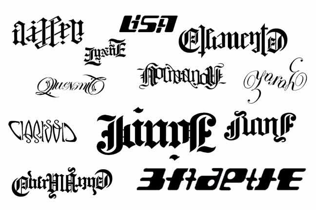Ambigram Tattoo Designs