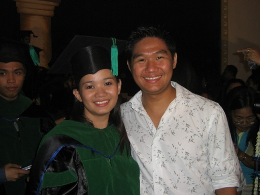 Taken last March 2007 during her graduation