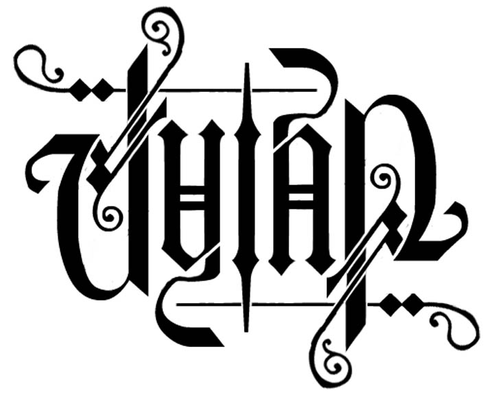 Love name tattoo designs - Ambigram Dylan Manokan Express