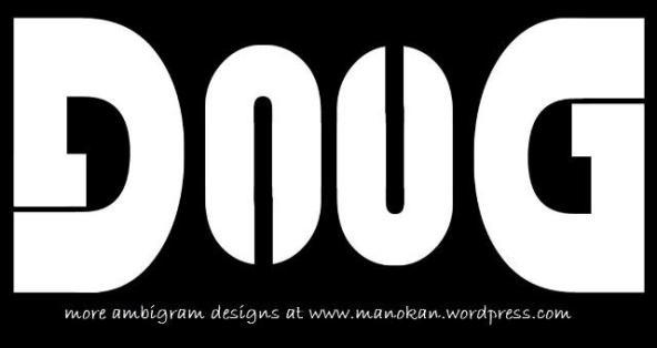 Ambigram -Doug