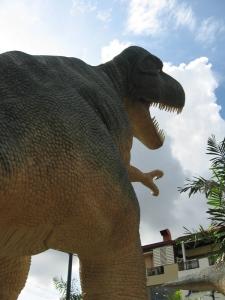 A huge T-rex walking over me