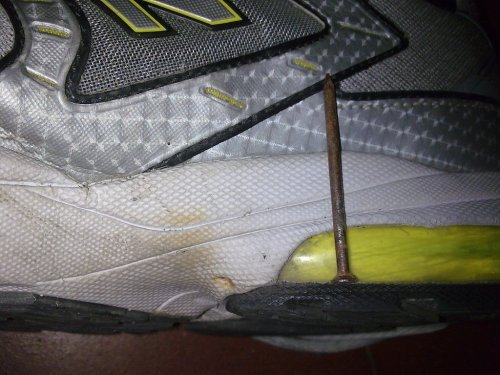 It could have been long and painful if it entered the shoe at this angle