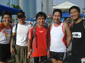 With Jay of Paul Calvin, Vener aka Run Unlimited, HighAltitude, Dindo aka RunningDATCom